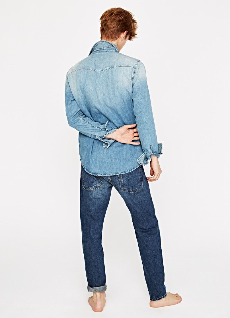 WORN OUT DENIM SHIRT 'PERCY' | MEN | Pepe Jeans London