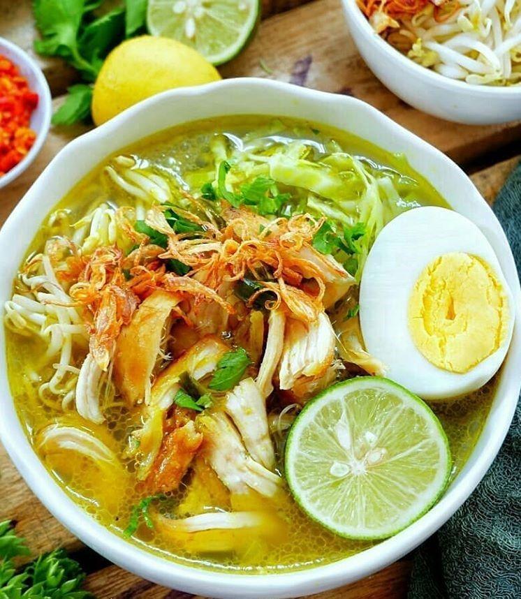 Resep Soto Ayam Kampung Kuah Kuning Resep Resep Makanan Resep Makanan