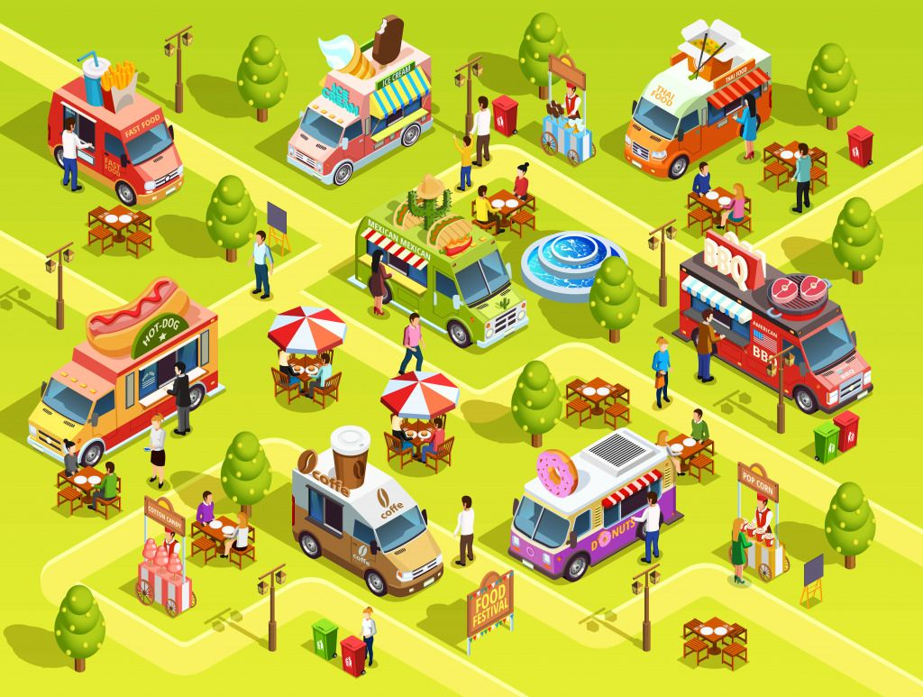 Street Food Trucks jigsaw puzzle in Puzzle of the Day