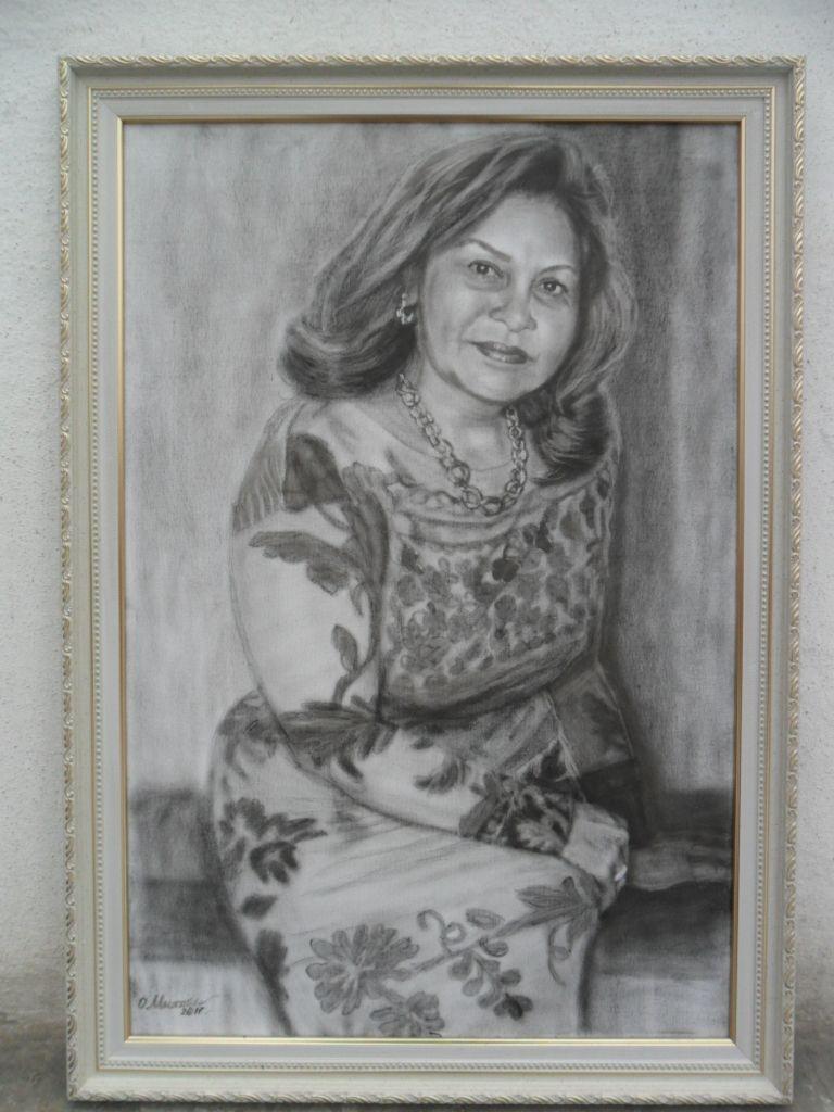 Женский портрет по фото, масло сухая кисть, А2, цена 35 ...