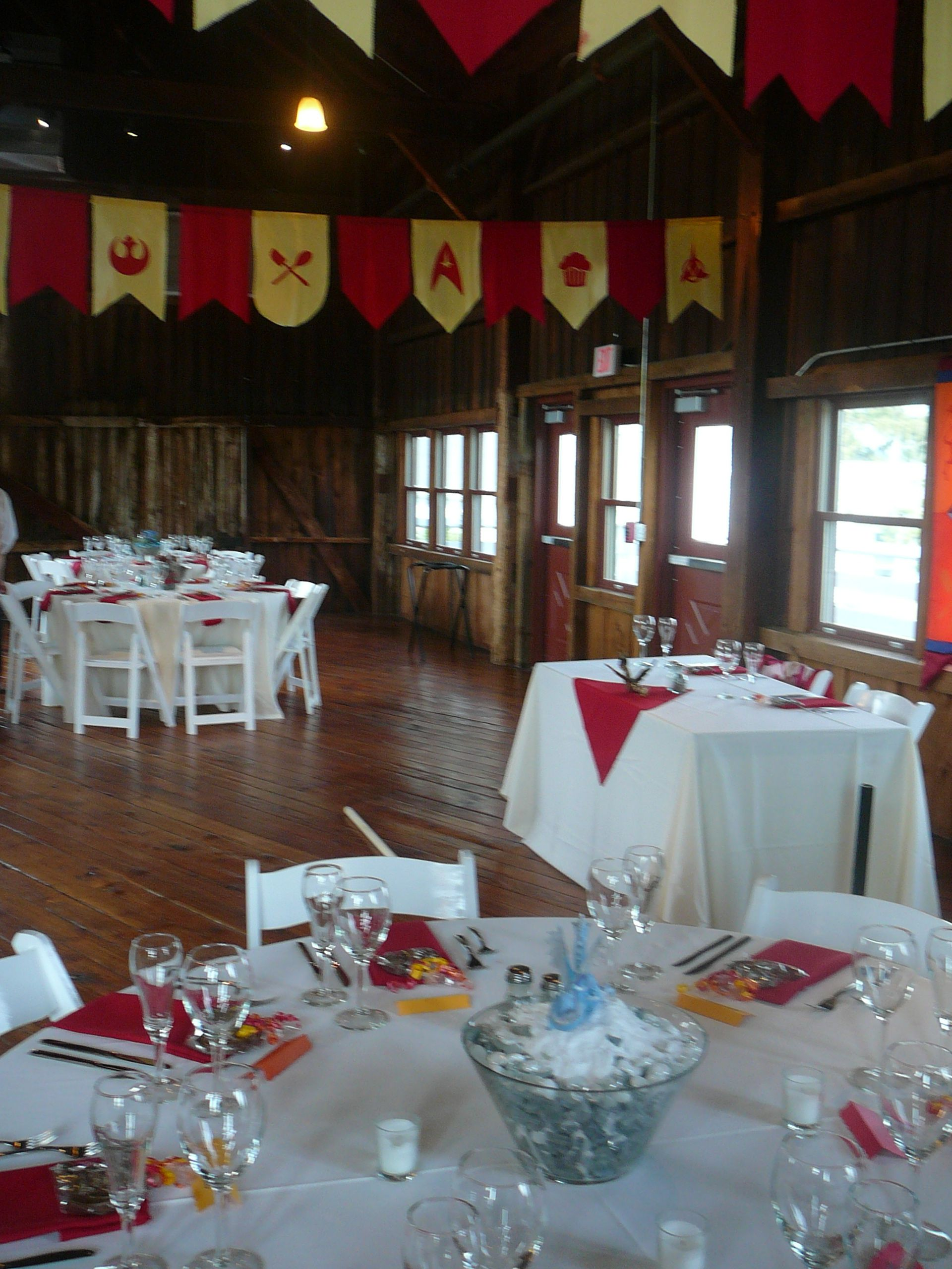 Wow A Medieval Themed Wedding In The Red Barn Check Out Those