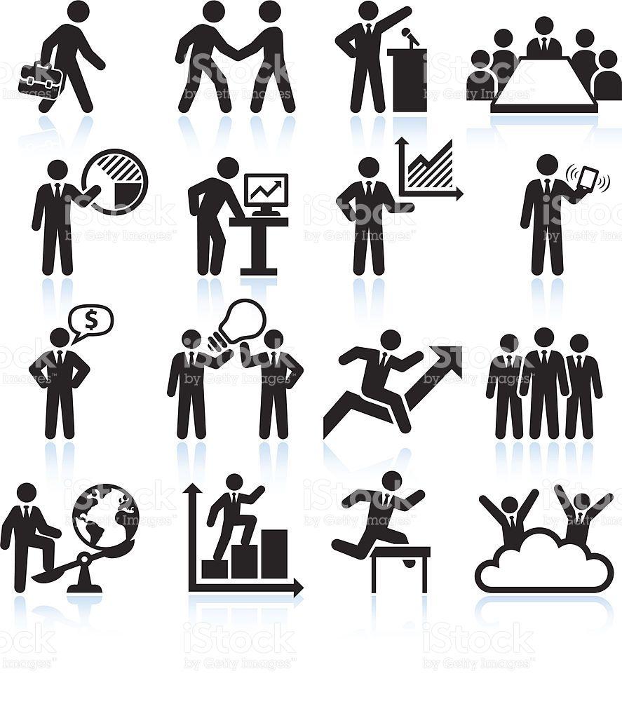 global business team presentation black and white set. Black Bedroom Furniture Sets. Home Design Ideas