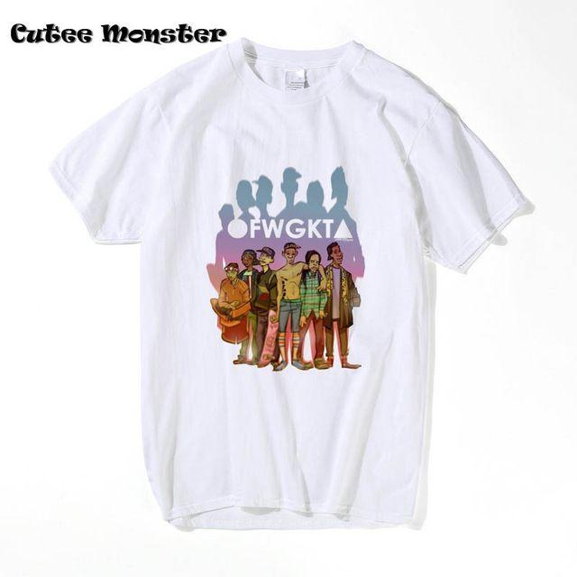 918df0a27473 Odd Future Music Band T-Shirt 2017 Mens White Gray OFWGKTA Tees Short Sleeve