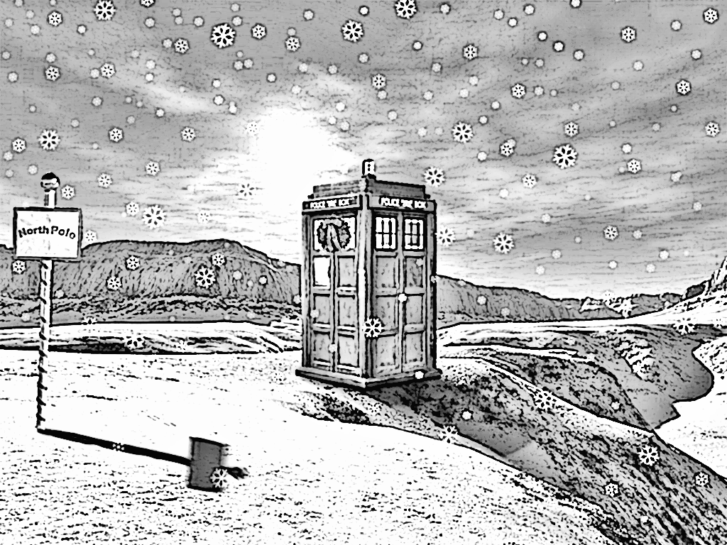 dr. who coloring pages | Madame Pompadour and the Tardis can be ...