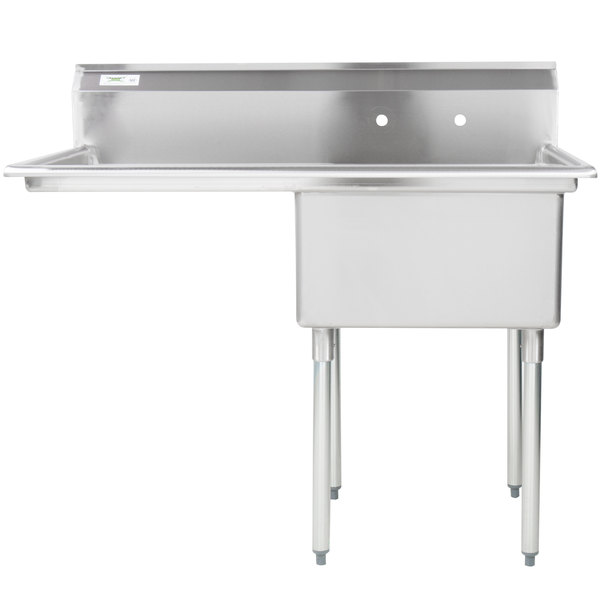 Regency 16 Gauge Stainless Steel One Compartment Commercial Sink With 1 Drainboard 23 X 23 X 12 Bowl With Images Commercial Sink Sink Drainboard Sink