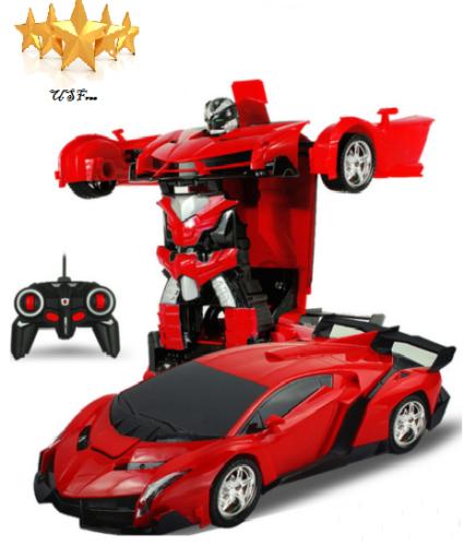 Kids Toys Car Remote Control Vehicle Transformer Transforming Robot RC Cars Toys