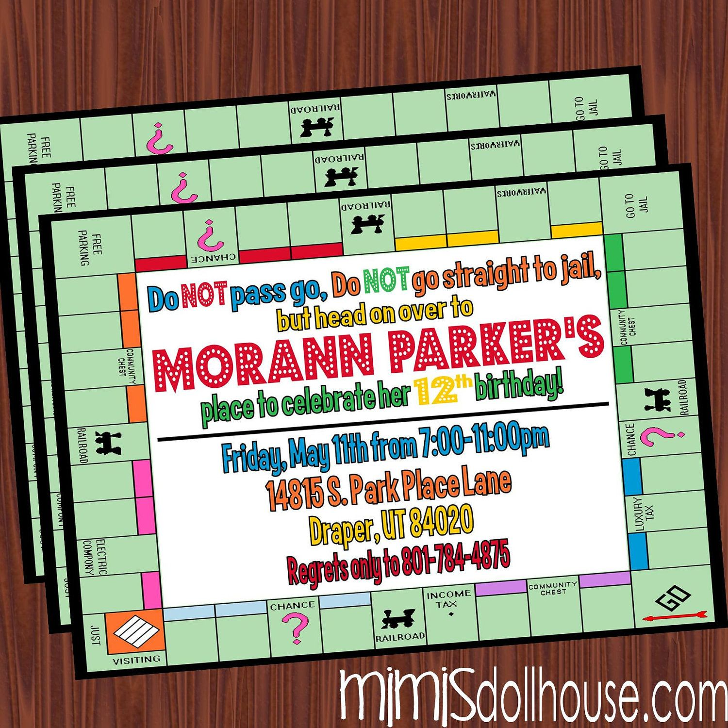 Game Night Invitation Printable Board Game Party Birthday