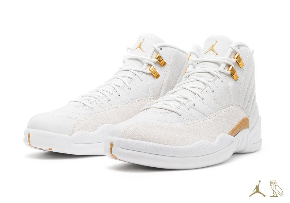patrocinador Ministerio Escuchando  Air Jordan 12 OVO - White and Gold | Tenis jordan mujer, Zapatillas jordan  retro, Tenis mujer blancos