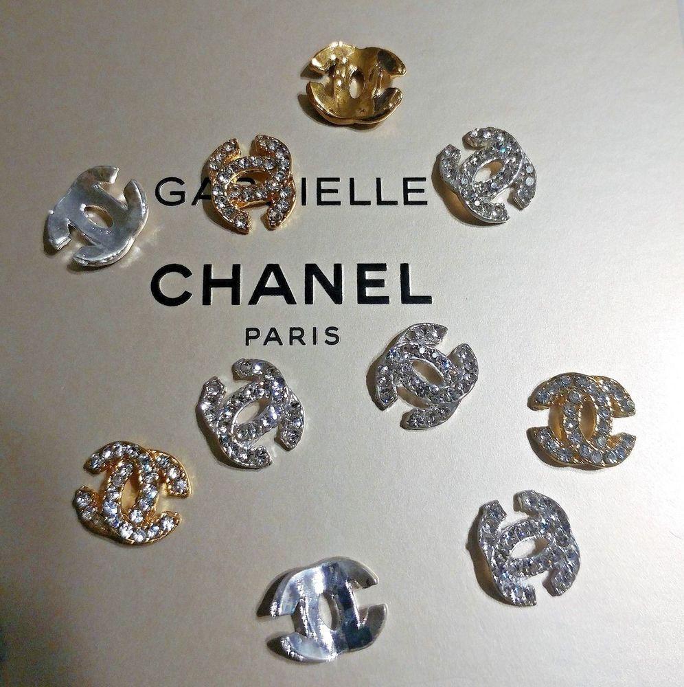 4Pcs HOT 3D LV CC LOGO Nail Art Alloy Jewelry Rhinestone Charm Tips ...