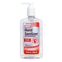 Bulk Assured Clear Instant Hand Sanitizer 10 Oz Pump Bottles At