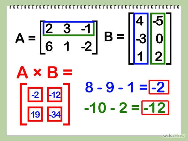 Multiply Matrices With Images Matrices Math Math Methods Matrix