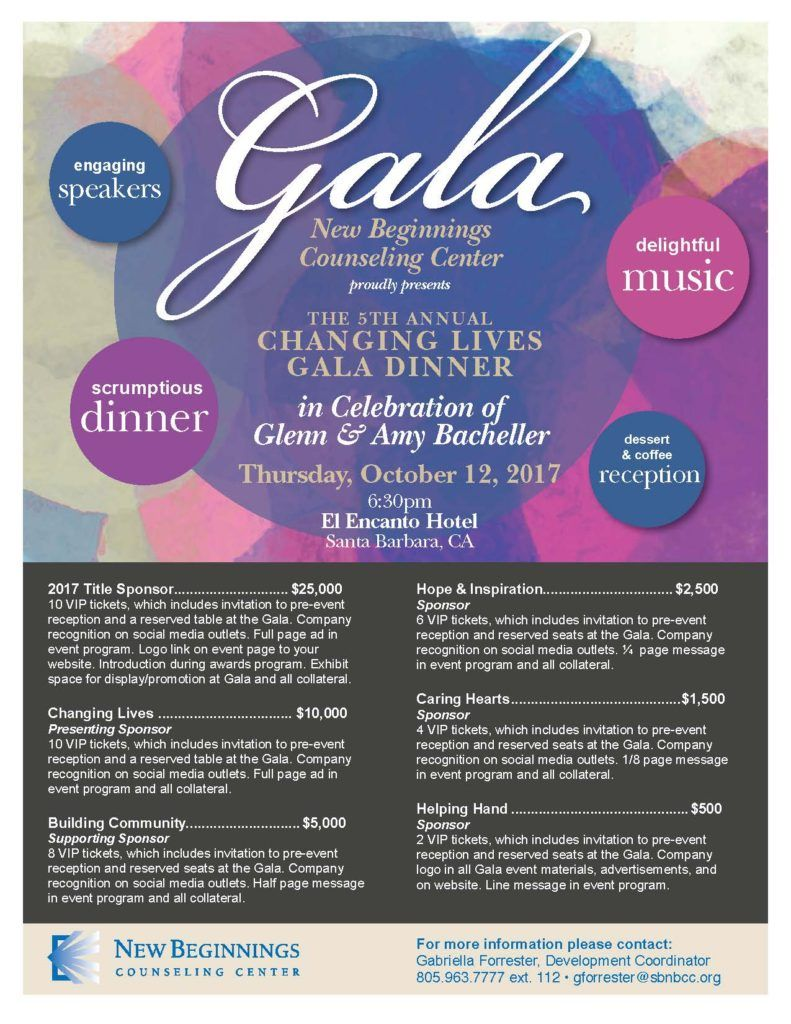 Gala Sponsorship Page Web  Invitations