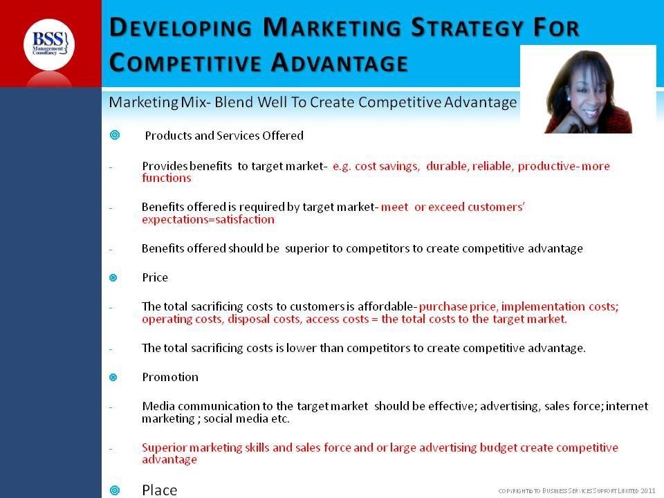 Checklist For Marketing PrinciplesWho is your market What