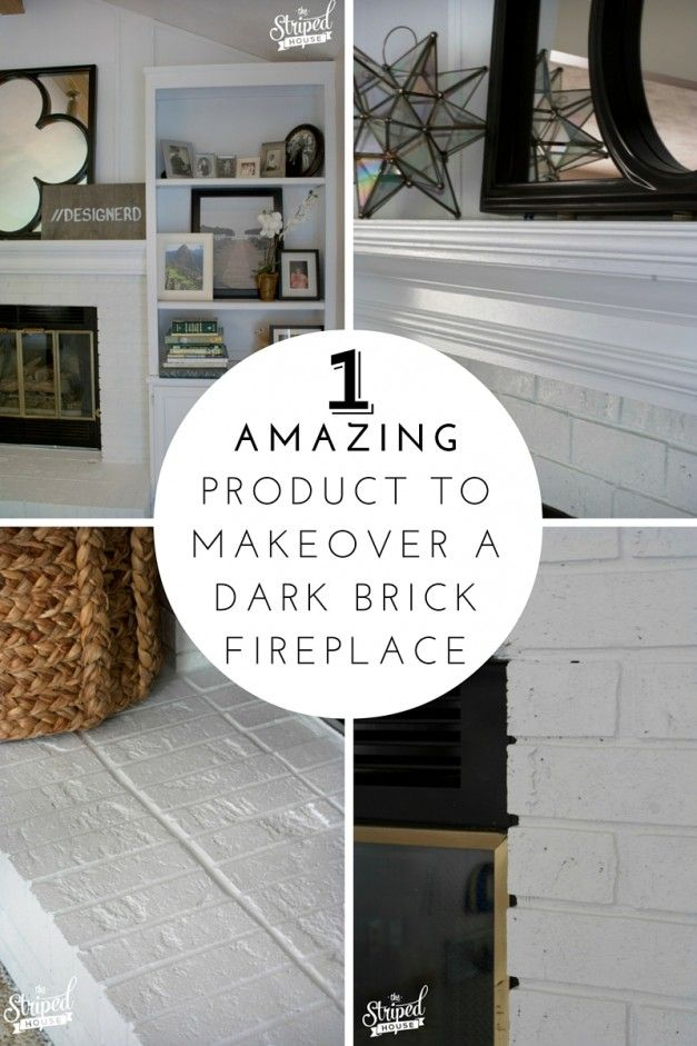 I Used ONE Product To Cover My Dark Brick Fireplace. And It Only Took Two