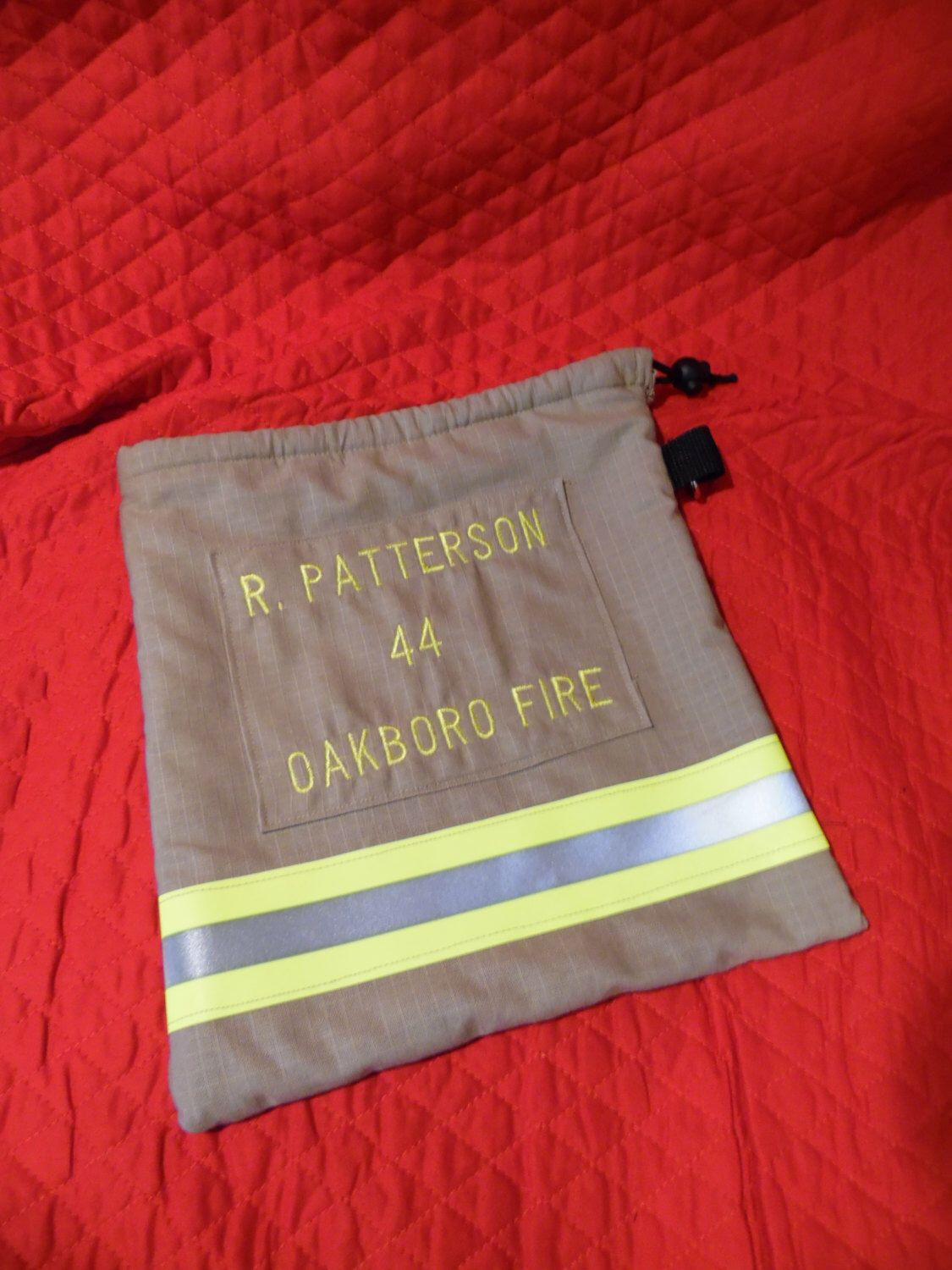 Recycled bunker gear bags - Custom Scba Firefighter Mask Bag Accent Your Bunker Gear Turnout Gear By Dakotastitch