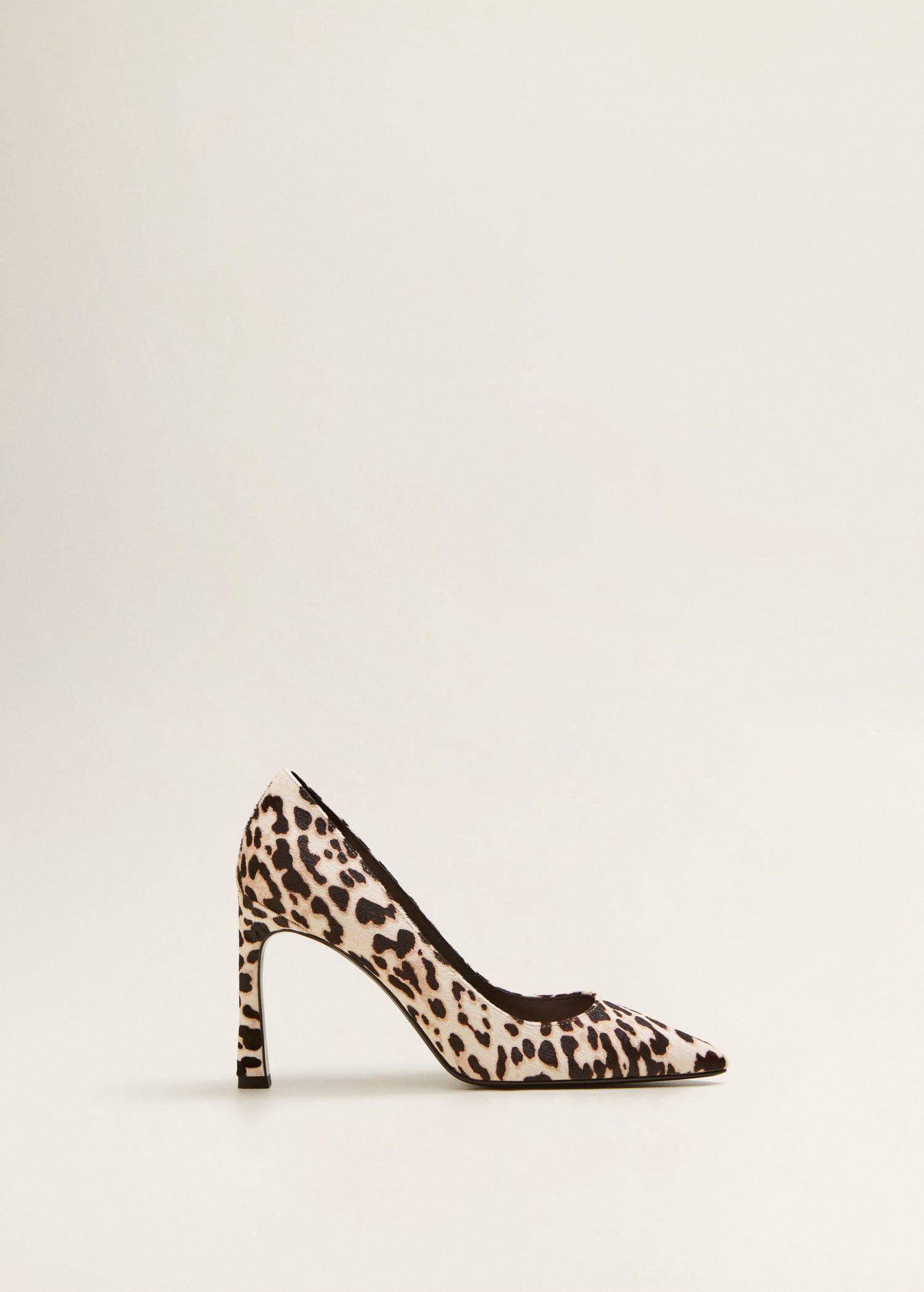 Mango Leather Pumps - 9½ Leopard Print Heels, Ballerina Shoes, Women s  Pumps, Shoes cee150b195af
