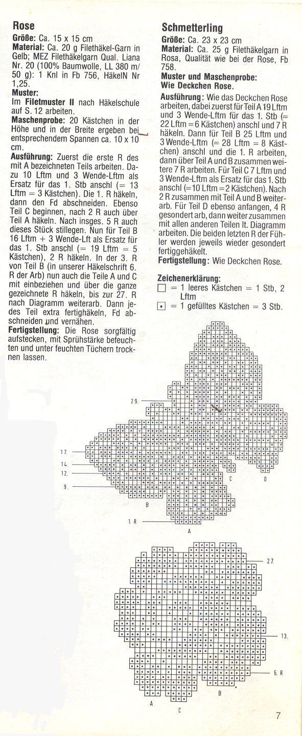 Ghasal\'s Kreativblog: Filethäkeln - Muster- Vorlagen … | Pinteres…