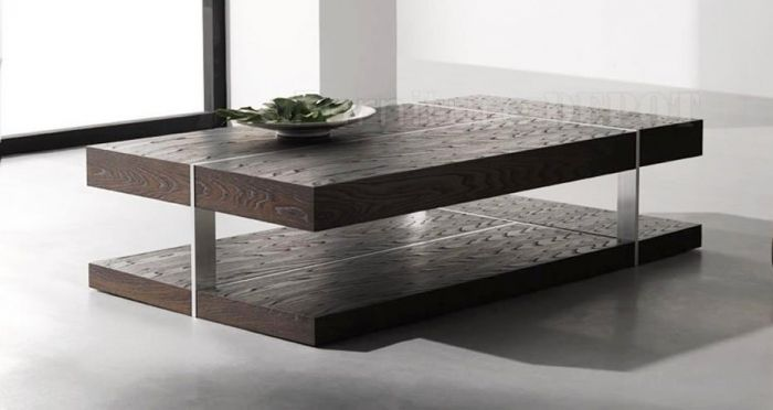 Outstanding Wenge Zebrano Finish Modern Coffee Table  Mesas De Adorable Modern Center Table Designs For Living Room Decorating Design