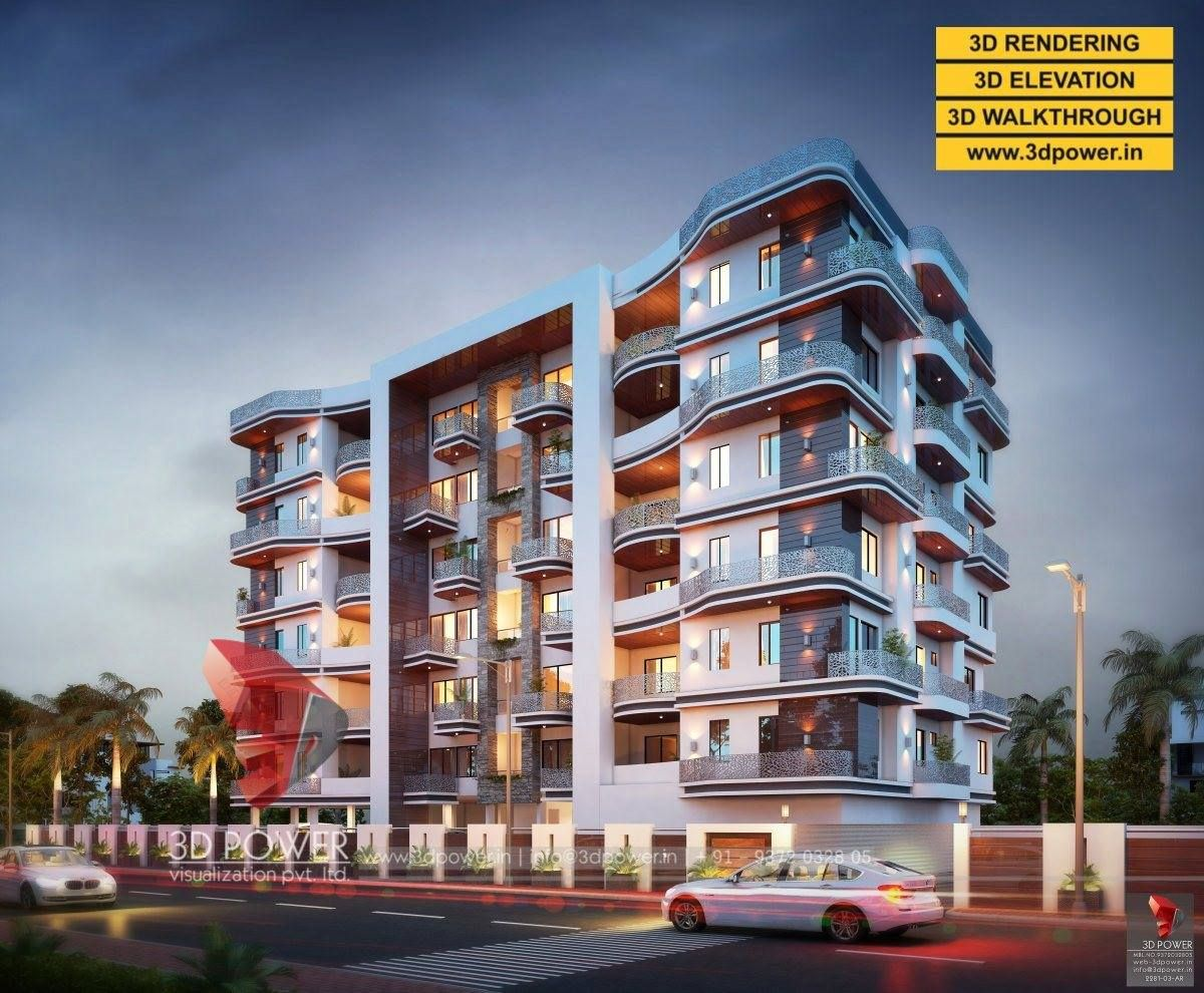 3d Rendering Of Exclusive Apartment In Evening Light Modern