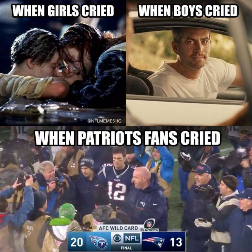 Texans Comeback Brutal Patriots Loss Spark Hilarious Memes In 2020 With Images Patriots Loss Texans Memes Nfl Memes