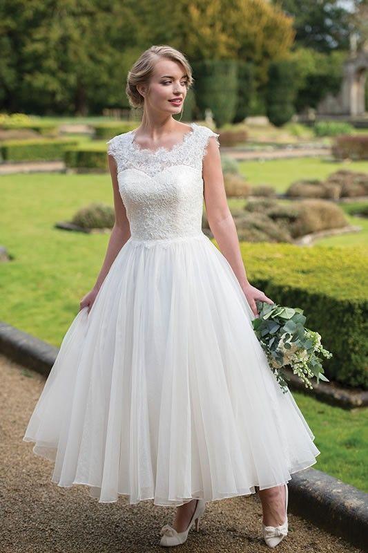 Ivory Co Tea Length Wedding Dress Roman Holiday In 2019