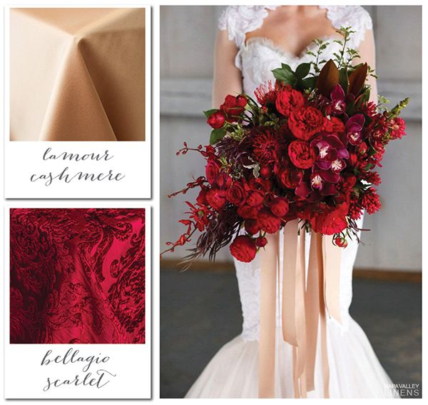 Red and Cashmere Elegant Winter Wedding Gorgeous Winter Color