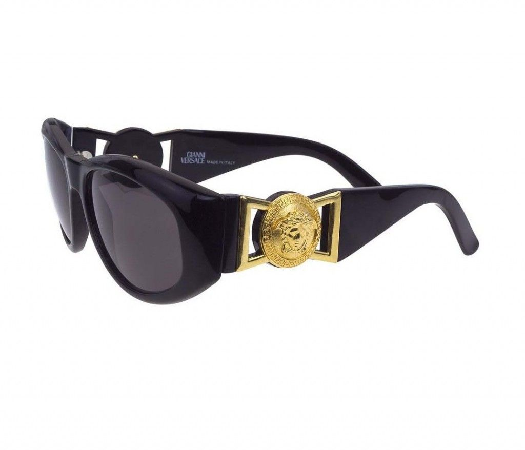 Biggie Smalls famously wore Gianni Verscace sunglasses. GOLD GOLD GOLD