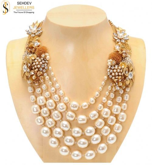 This #pearl #necklace is perfect to make your #unique identity among the crowd. Shop today at http://sehdevjewellers.com