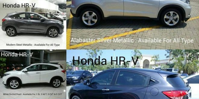 Pilihan Warna Mobil Honda HR V