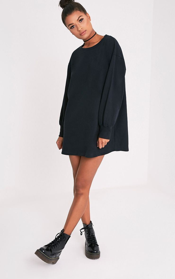 Sianna Black Oversized Sweater Dress Image 5 | clothes | Pinterest ...