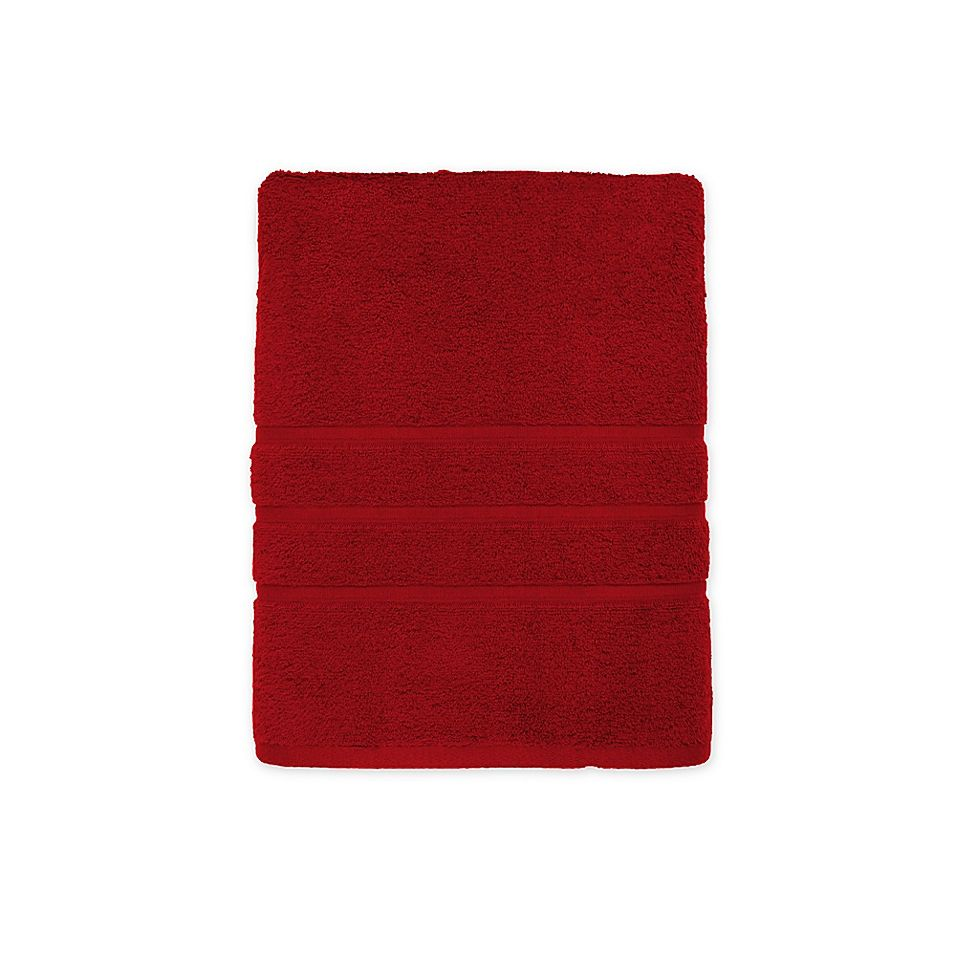 American Craft Made In The Usa Bath Towel In Crimson Red Bath Towels