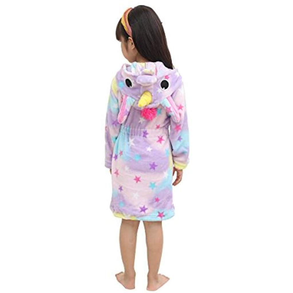 Quattro Stagioni Abbigliamento.Lantop Accappatoio Morbido Per Bambini Comodamente Unicorno