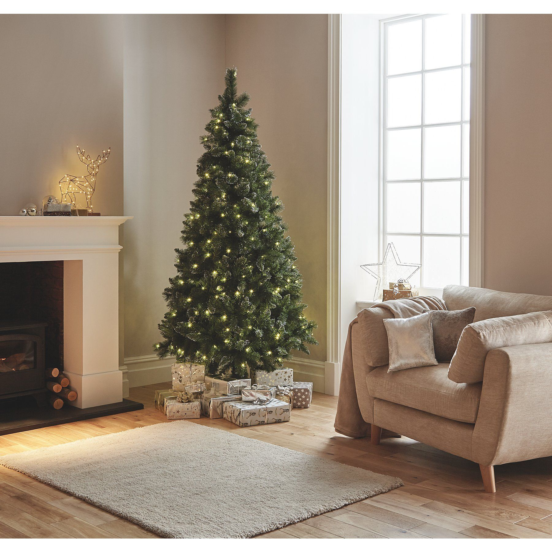 Pre Lit 7 5ft Christmas Tree Christmas George Christmas Tree Decorations Christmas Christmas Home