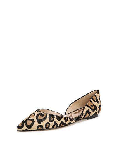 e2c3e877fe5f8 Sam Edelman Rodney Pointed-Toe Leopard Flats