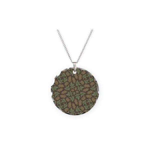 Tumblr Retro Art Necklace Circle Charm ($22) ❤ liked on Polyvore