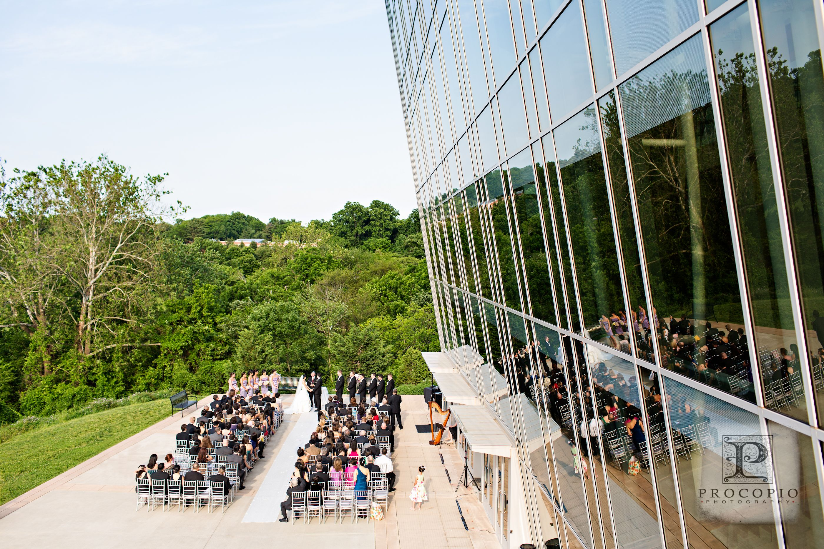 Outdoor Wedding Ceremony At The Music Center.