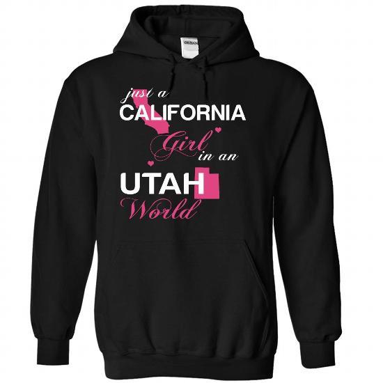 (CAJustHong001) Just A California Girl In A Utah World #fashion #TShirts