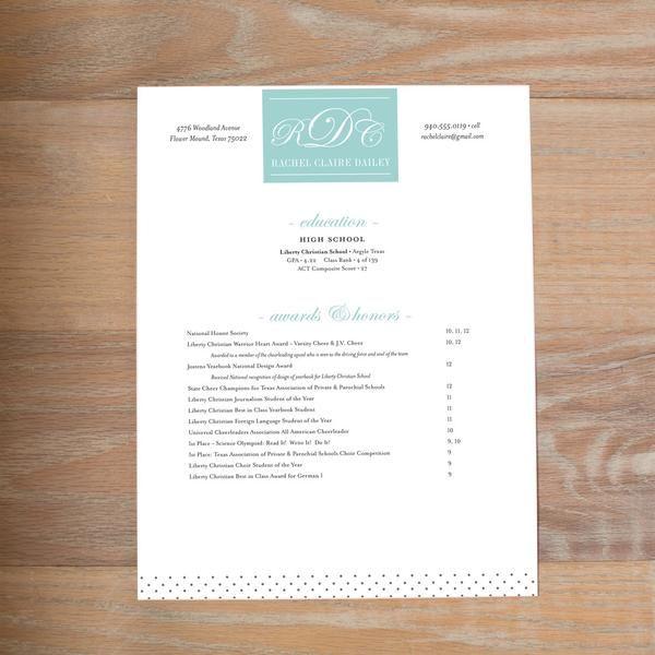Monogram Block fully-formatted sorority resume Sorority - formatted resume