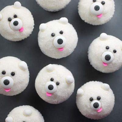 Eisbärcupcakes