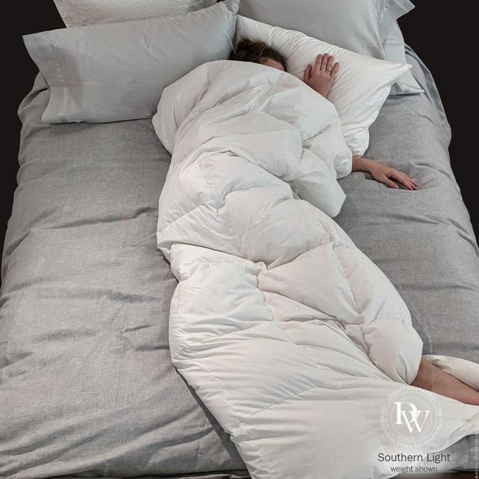 Euro Sized Daunendecke White Goose Down Comforter Down Comforter