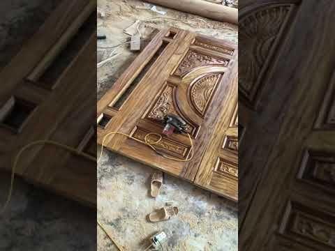 Iron wood door