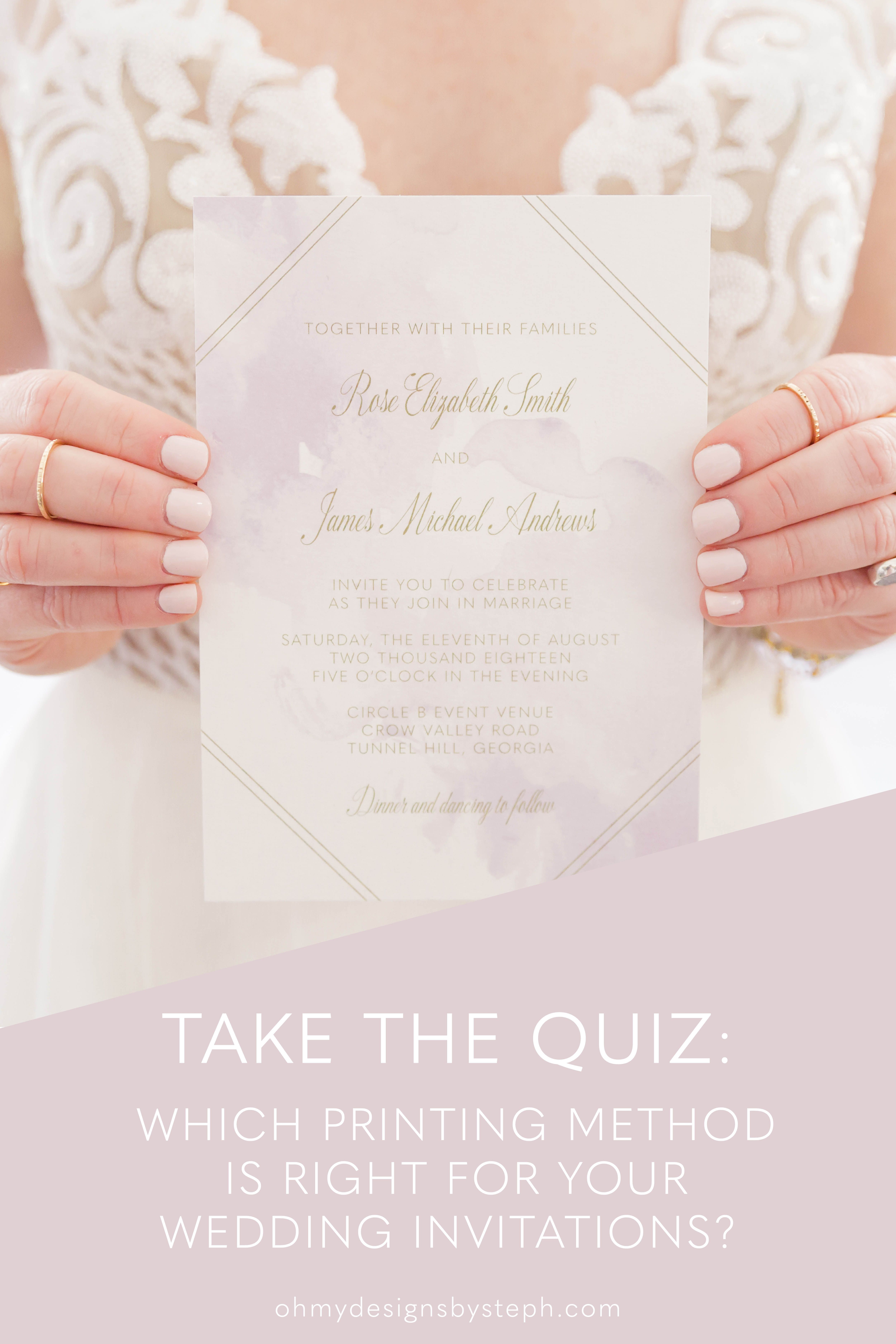 Which Printing Method Is Best For Wedding Invitations Printing Wedding Invitations Letterpress Wedding Invitations Printable Wedding Invitations Vintage
