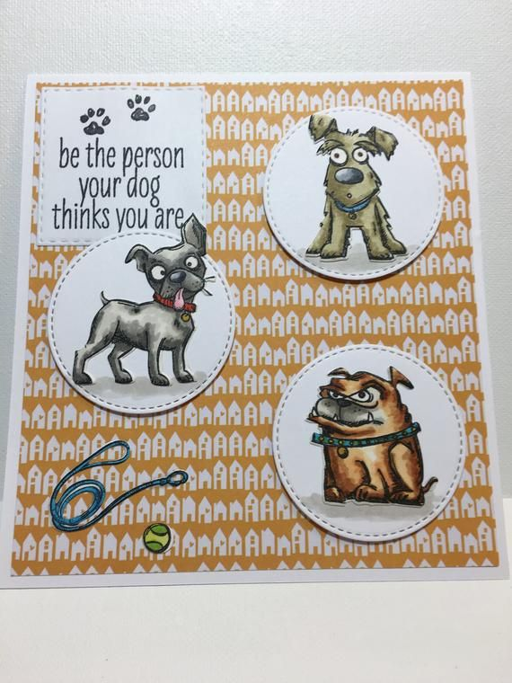 Dog Lover Card Be The Person Your Thinks You Are Puppy Handmade 3D Birthday Blank Inside