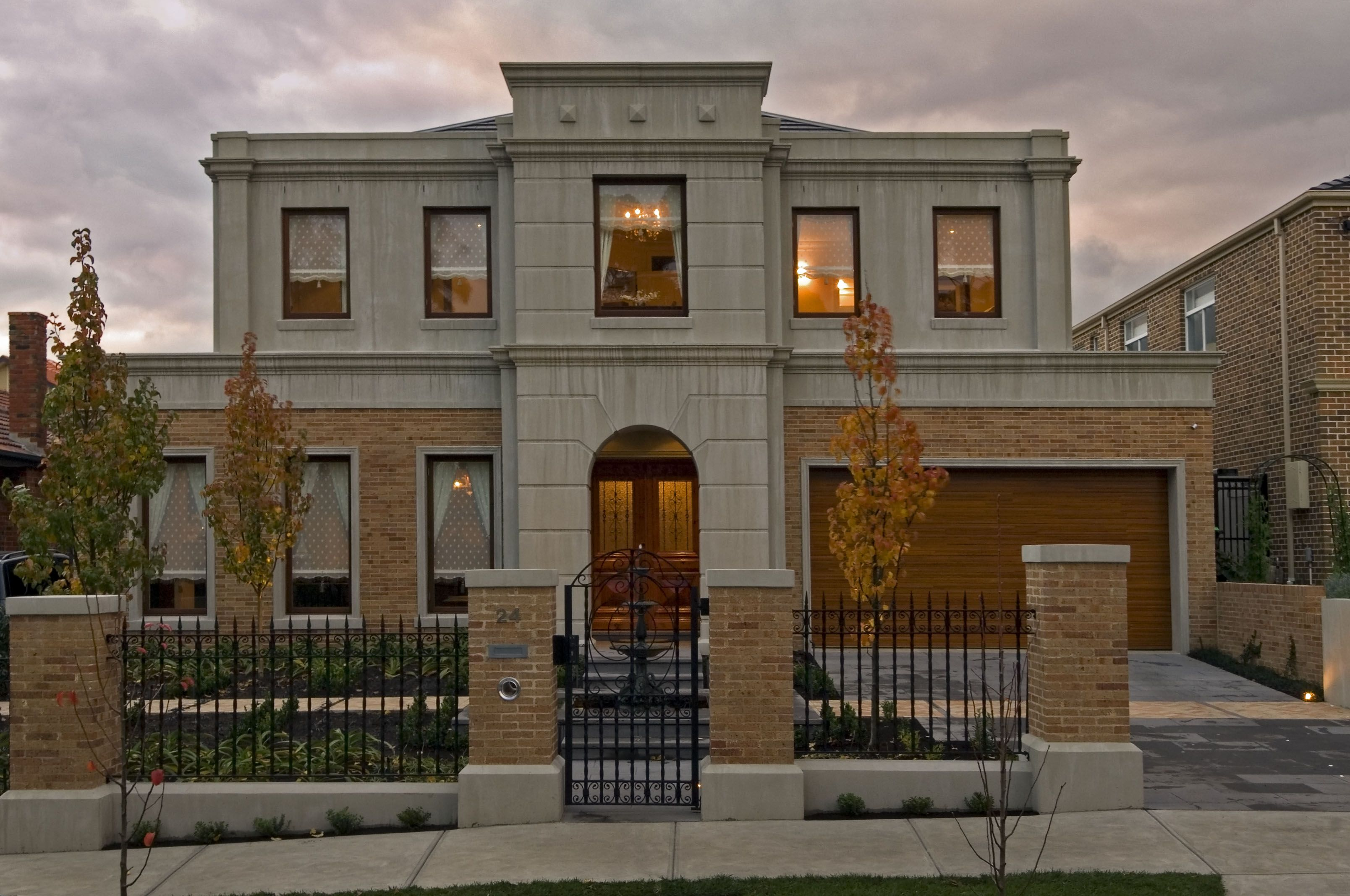 neo classical home with 50mm daniel robertson bricks and toscano