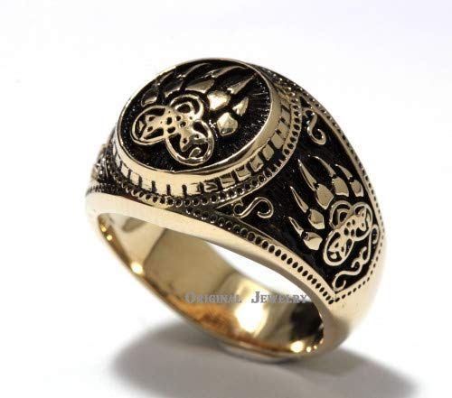 Most popular fashion style men's Original design BRASS Ring 5 Bear