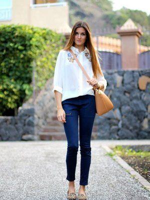 Marilynscloset Outfit Invierno 2012. Combinar Camisa-Blusa Blanca Queens Wardrobe Pantalones ...