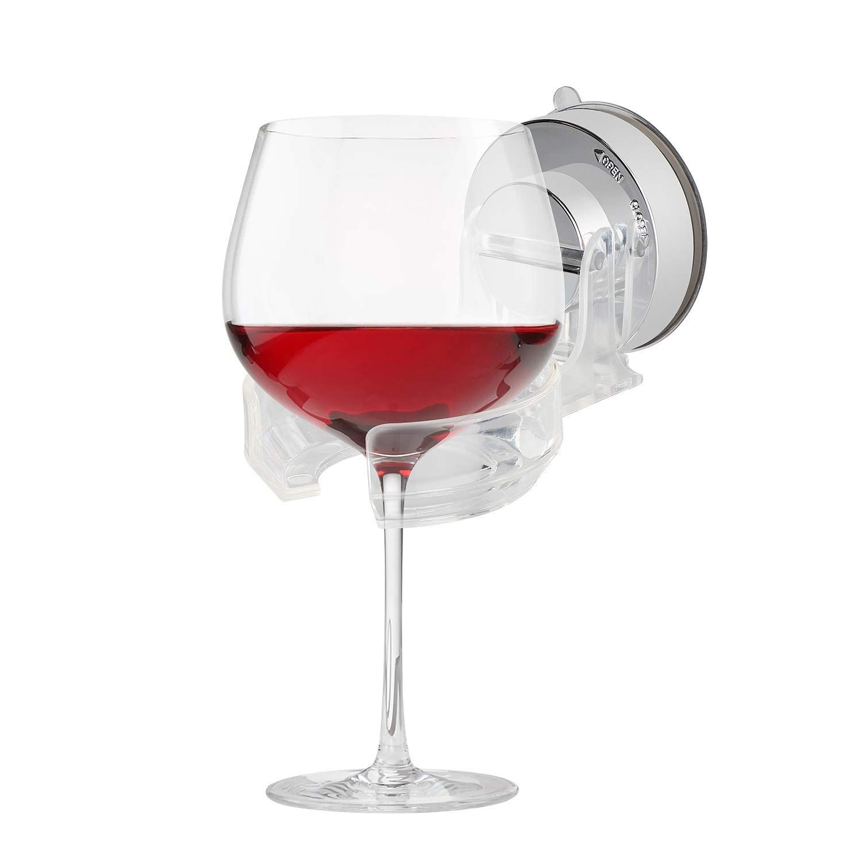 Wine Glass Shower Holder Suction Cup Beer Holder For Shower Bathtub Glass Shower Bathroom Decor Shower Holder