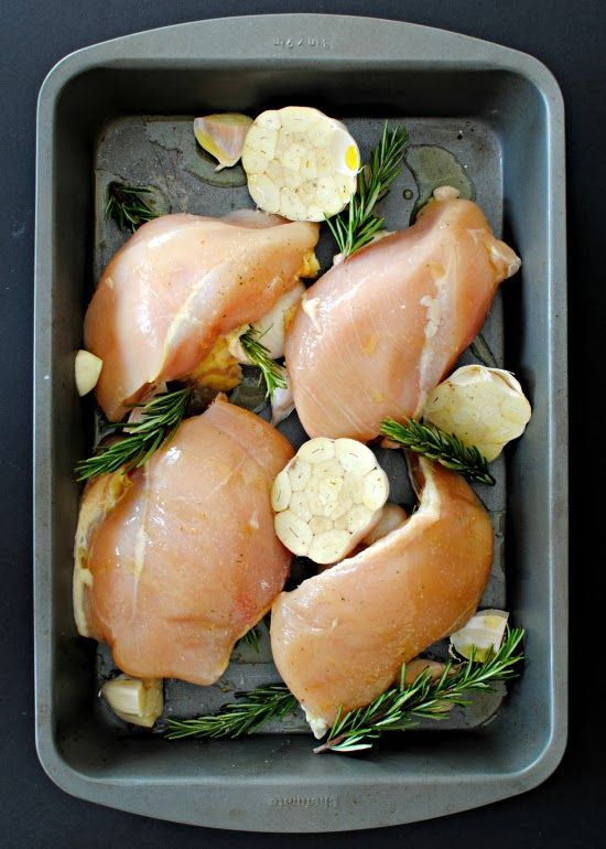 a clove of garlic a pinch of salt garlic roasted chicken breasts happy new year