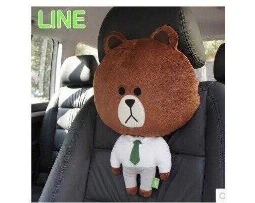Car Headrest Pillow Brown Bear Car Neck