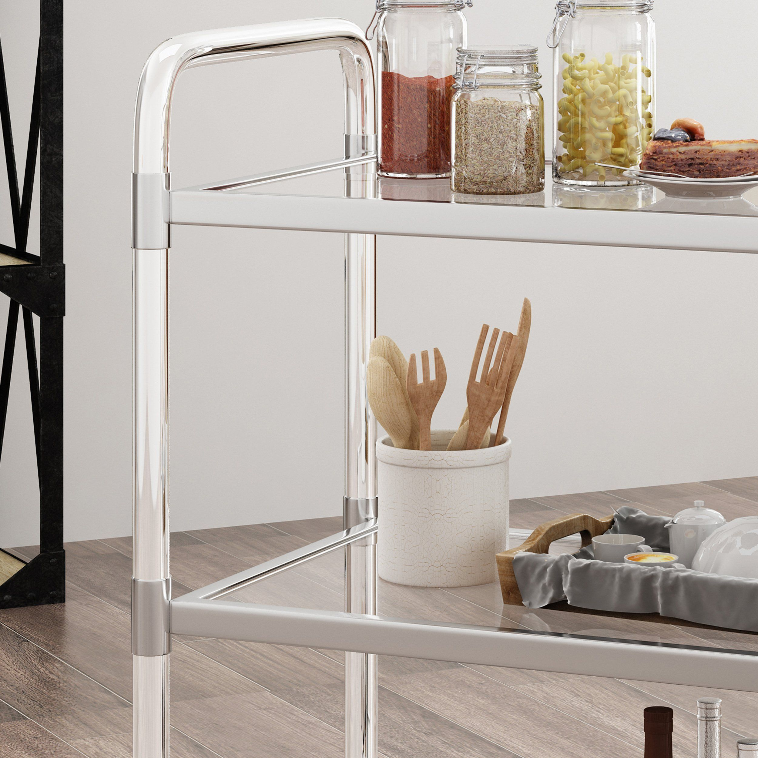 Great Deal Furniture Roy Acrylic Bar Trolley In Clear Click Image To Review More